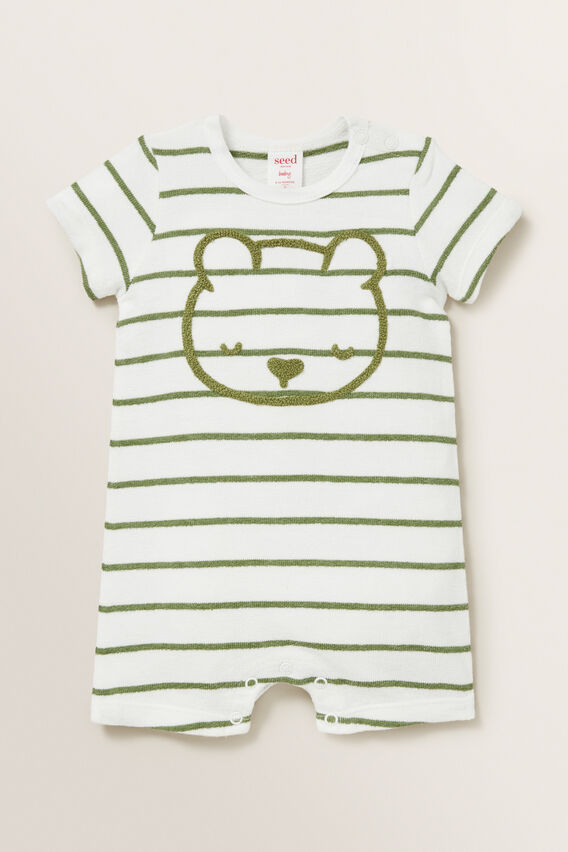 Bear Stripe Jumpsuit  CANVAS  hi-res