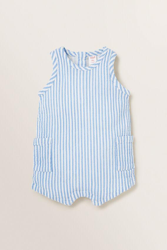 Stripe Pocket Onesie  CORNFLOWER BLUE  hi-res