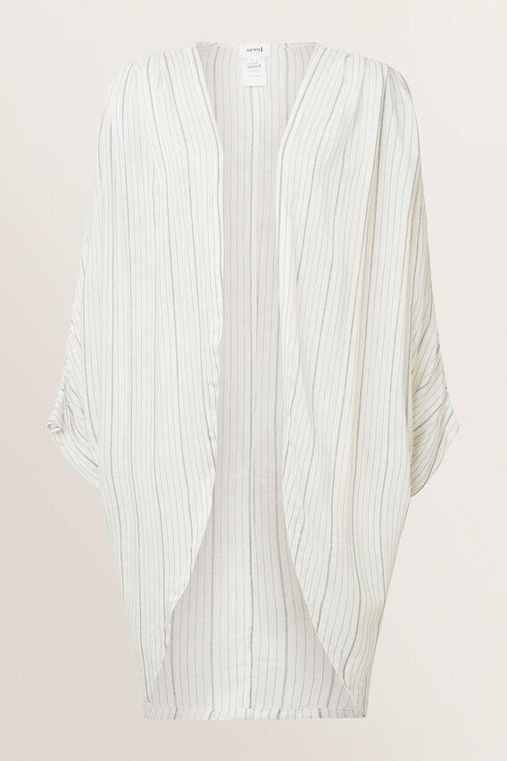 Cocoon Kimono  CLOUD CREAM STRIPE  hi-res