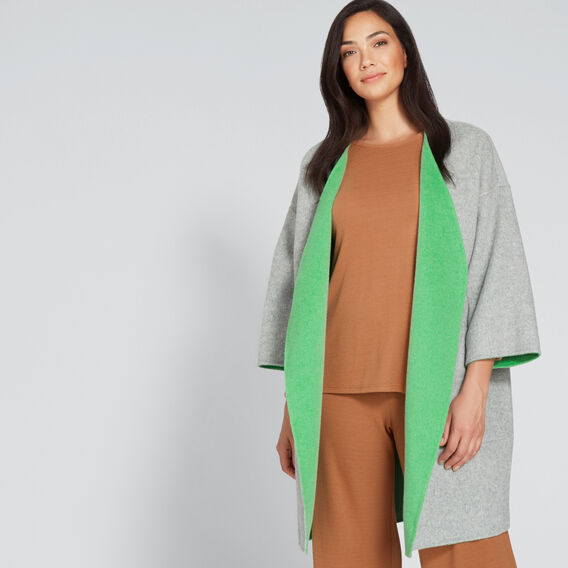 Reversible Coat  WASHED GREEN/GREY  hi-res