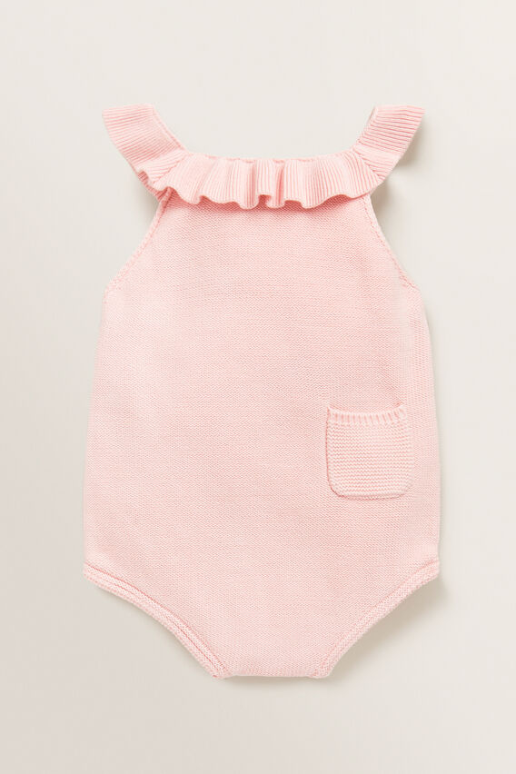Frill Knitted Onesie  PRETTY PINK  hi-res