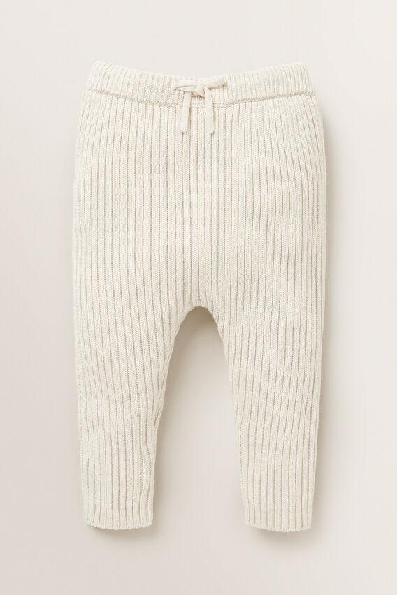 Rib Knitted Pant  OAT MARLE  hi-res
