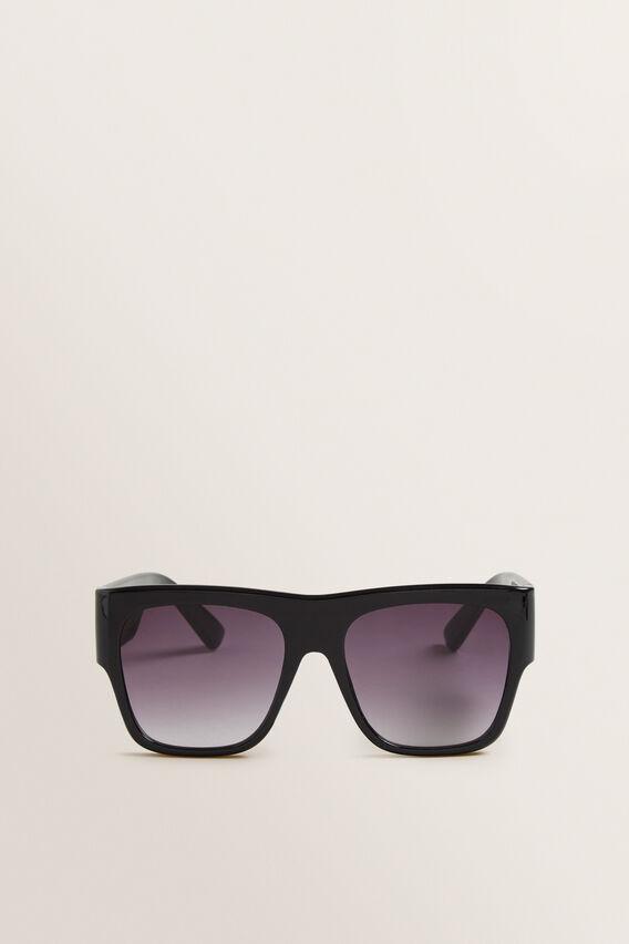 Kim Flat Top Sunglasses  BLACK  hi-res