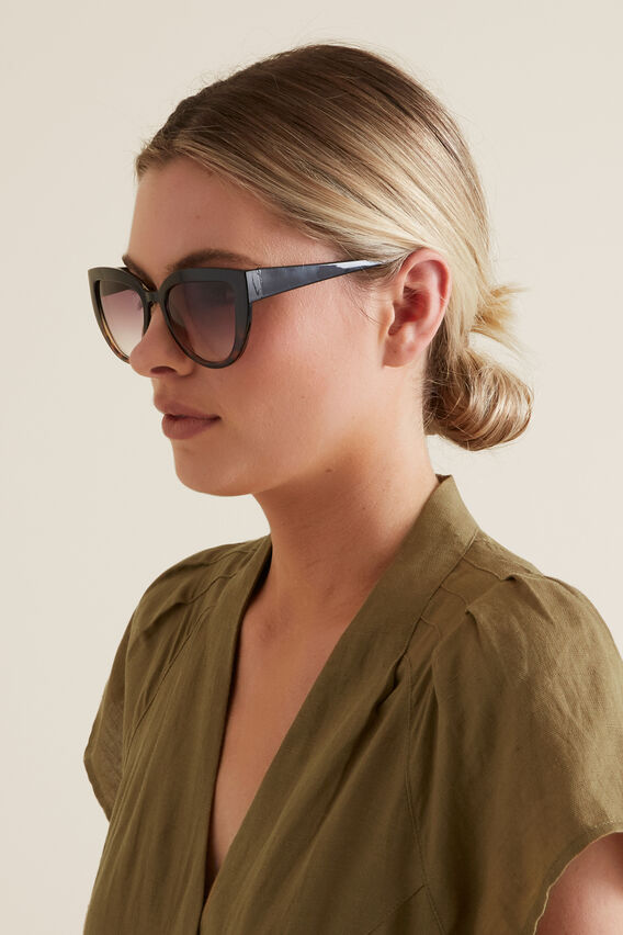 Ava Cat Eye Sunglasses  BLACK/TORT  hi-res