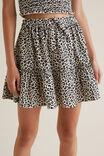 Ocelot Tiered Skirt, OAT LINEN, hi-res
