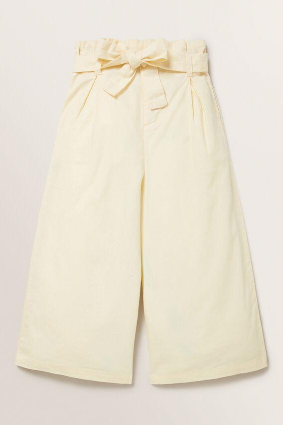 Linen Culottes  LEMON  hi-res