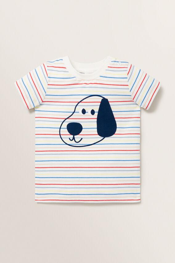 Puppy Print Tee  MULTI  hi-res
