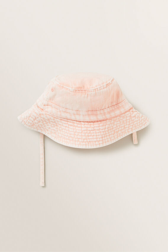 Acid Wash Bucket Hat  DUSTY ROSE  hi-res