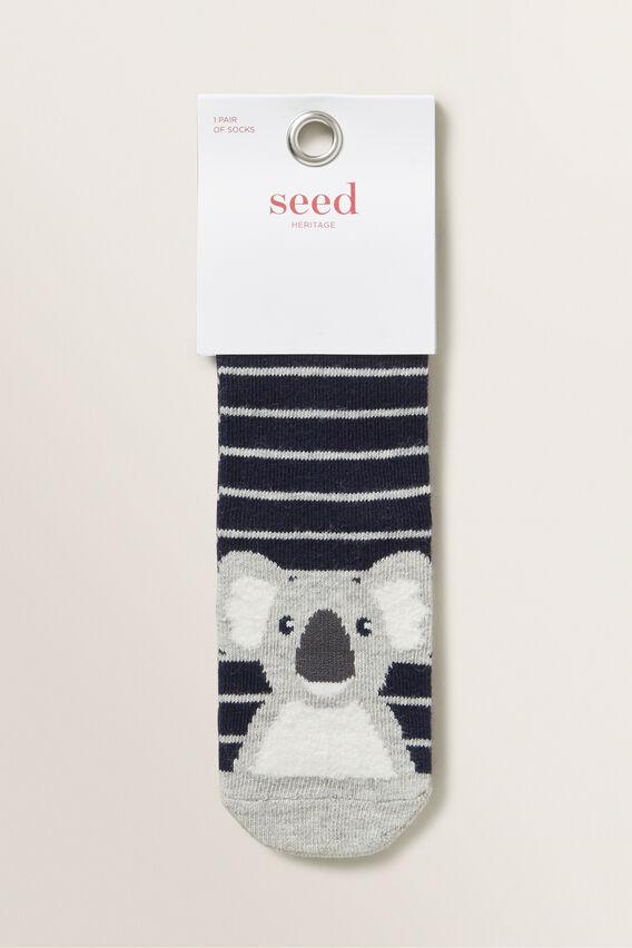Koala Socks  NAVY  hi-res
