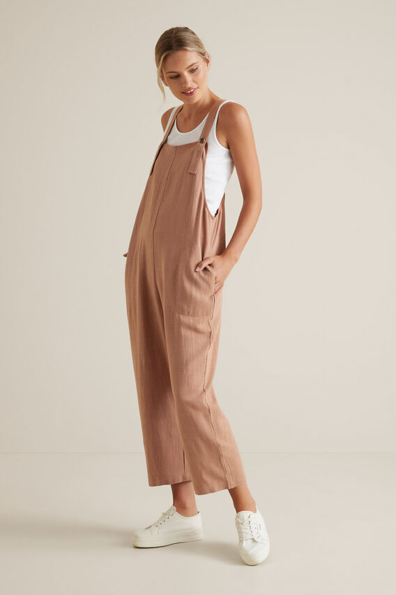 Cross Back Overalls  MOCHA MOUSSE  hi-res