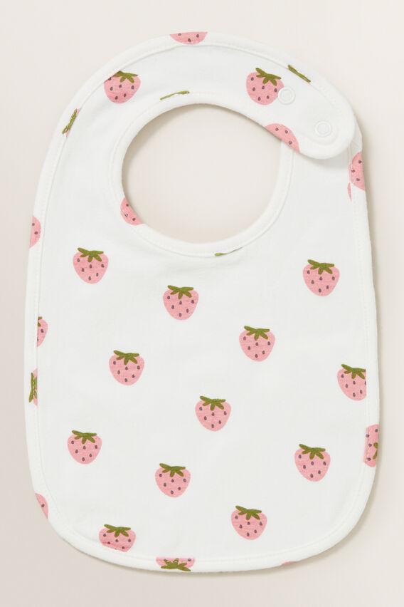Strawberry Bib  CANVAS  hi-res