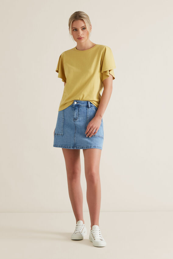 A-Line Denim Mini Skirt  CLASSIC DENIM  hi-res
