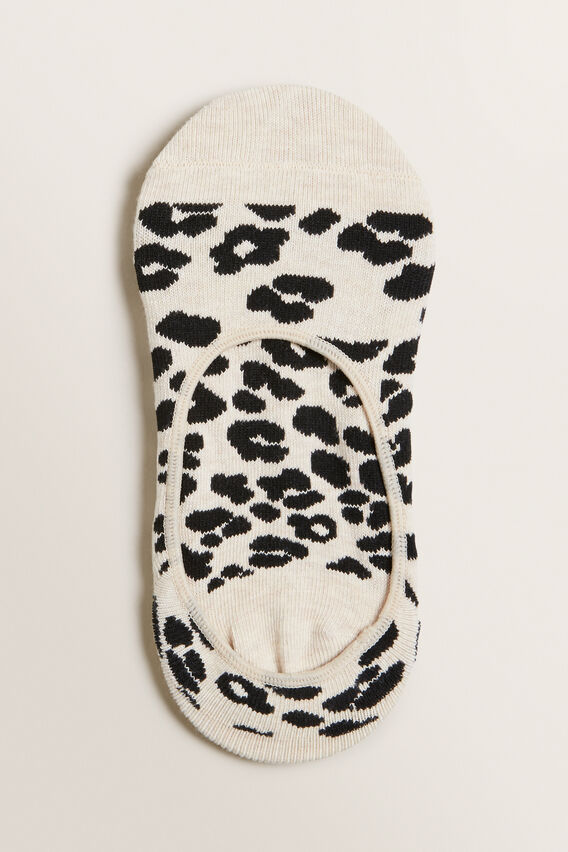 No Show Sock  LEOPARD  hi-res