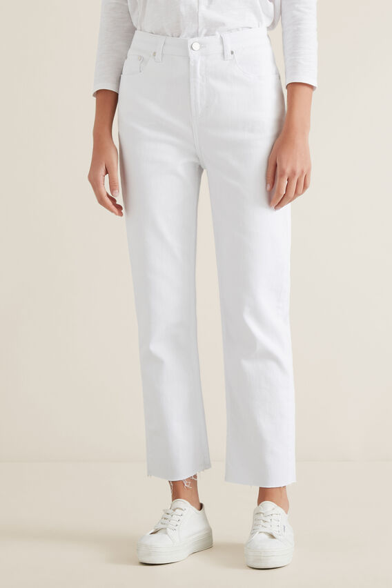 Slim Leg Jean  WHITE  hi-res