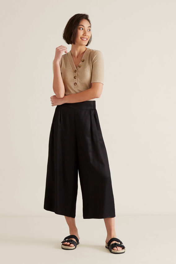 Soft Wide Leg Pant  BLACK  hi-res