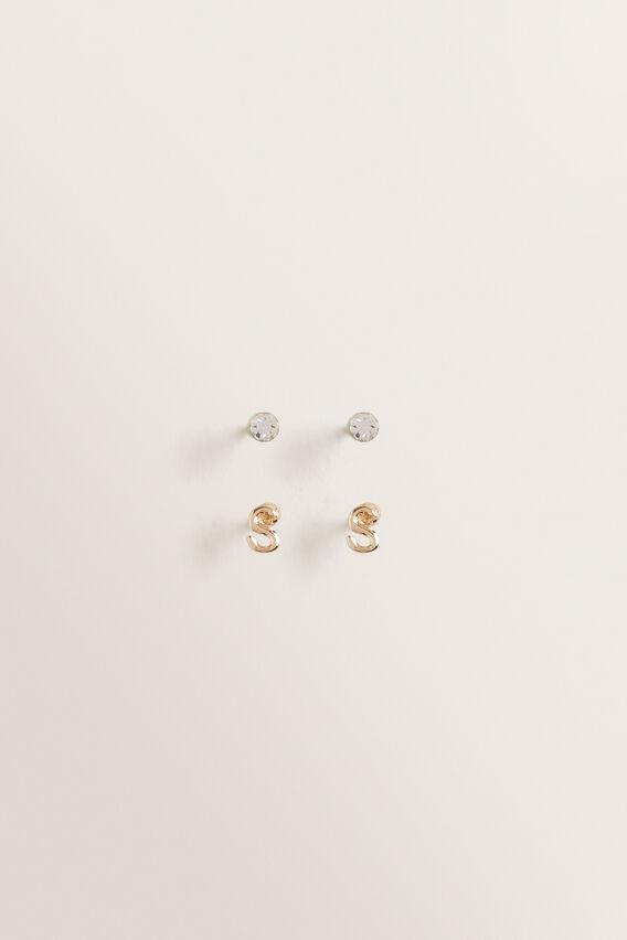 Initial Earring Pack  S  hi-res
