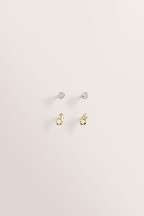 Initial Earring Pack  J  hi-res