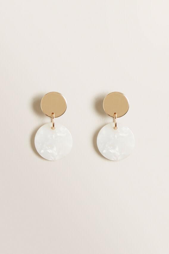 Mini Circle Drop Earring  GOLD PEARL  hi-res