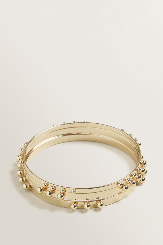 Studded Bangle Set  GOLD  hi-res