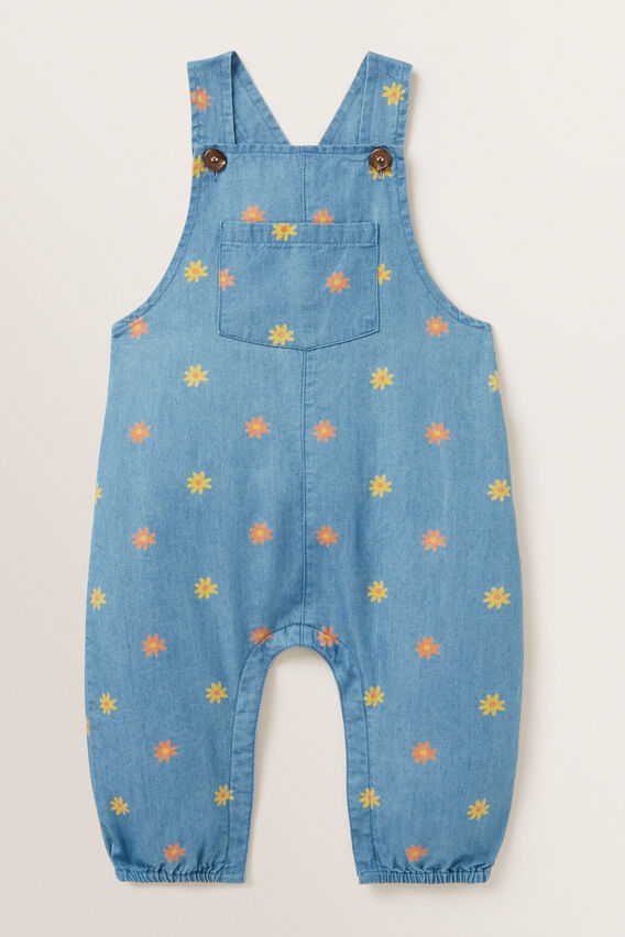 Print Chambray Dungaree  FADED BLUE  hi-res