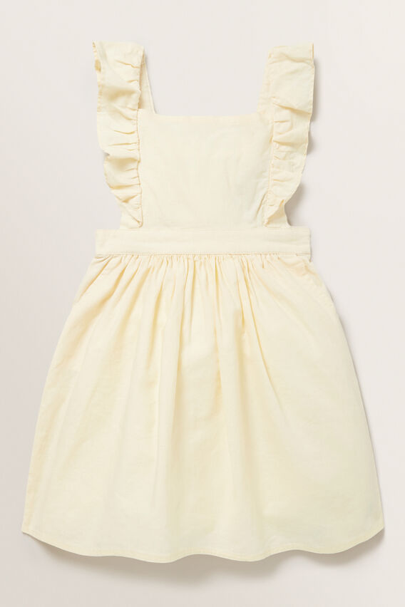 Linen Pinafore  LEMON  hi-res