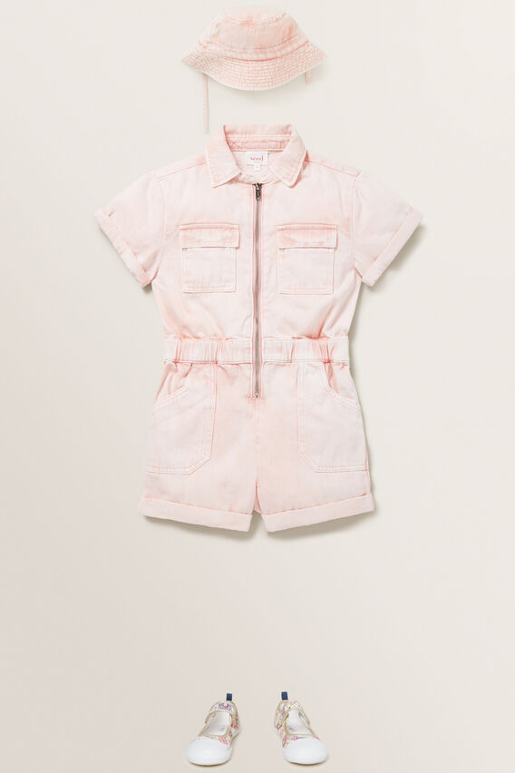 Boiler Suit  ROSE ACID WASH  hi-res