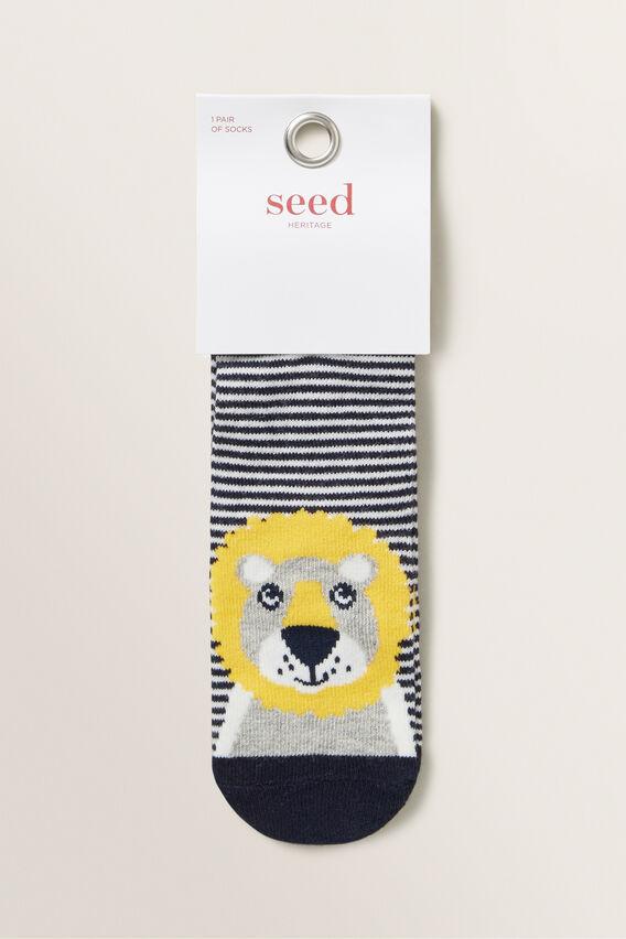 Lion Socks  NAVY  hi-res