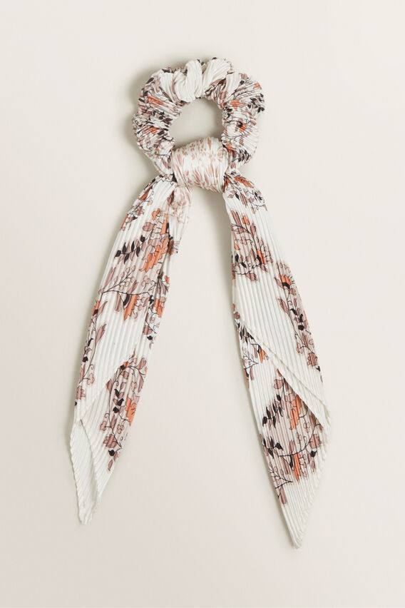 Pleated Scarf Scrunchie  PAISLEY  hi-res