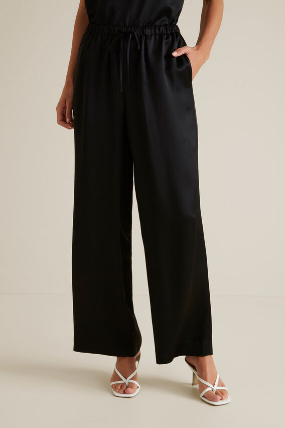 Fluid Wide Leg Trouser  BLACK  hi-res