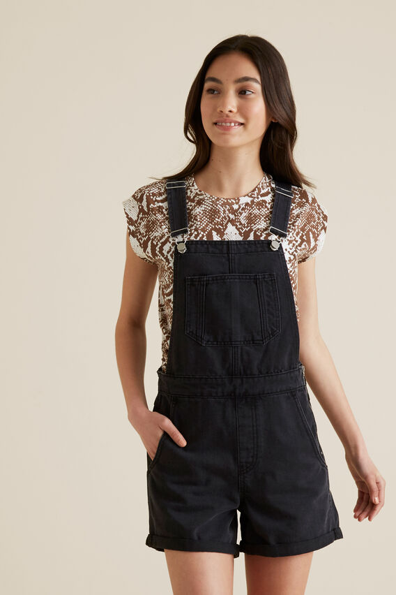 Denim Overall  BLACK WASH  hi-res