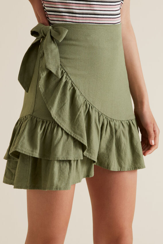 Ruffle Skirt  PALE KHAKI  hi-res