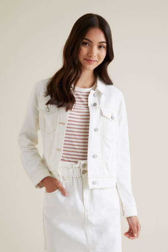 Denim Jacket  WHITE WASH  hi-res