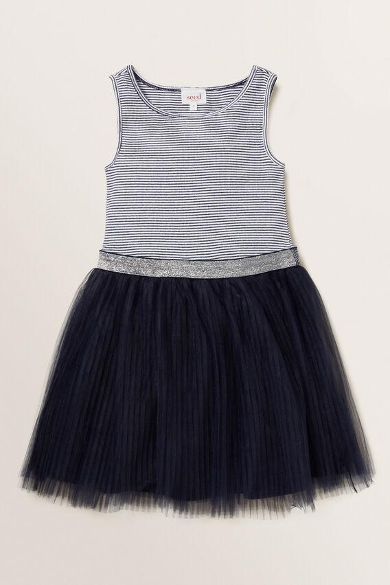 Pleat Tutu Dress  NAVY  hi-res