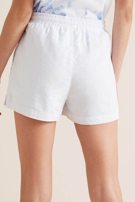 Linen Short  WHITE  hi-res