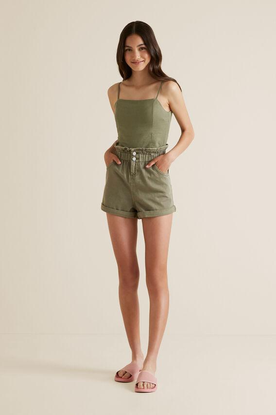Paperbag Shorts  PALE KHAKI  hi-res