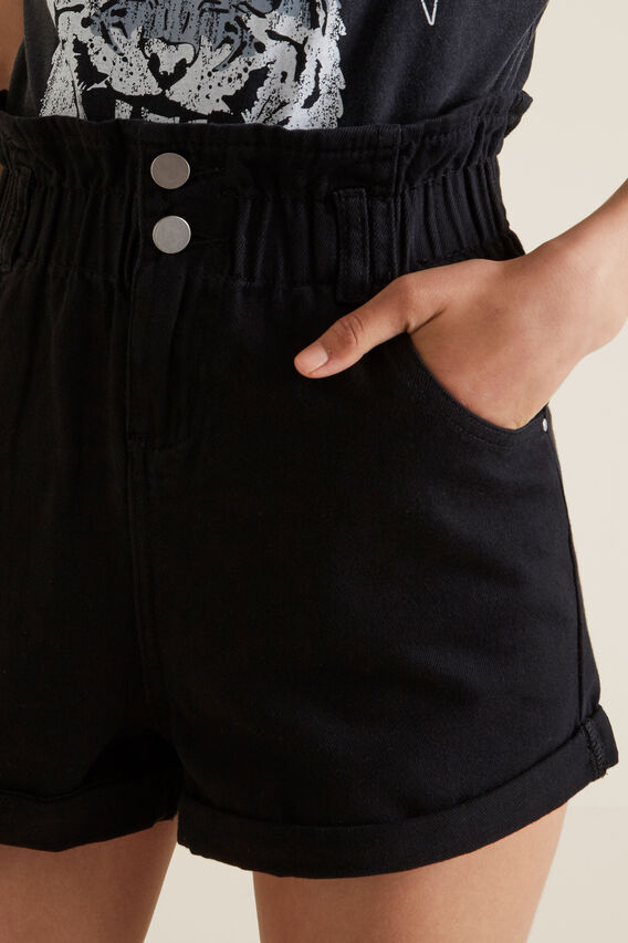 Paperbag Shorts  BLACK  hi-res