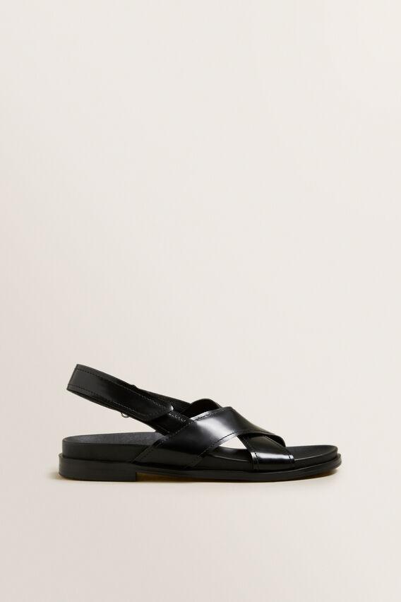 Kris Cross Over Sandal  BLACK  hi-res