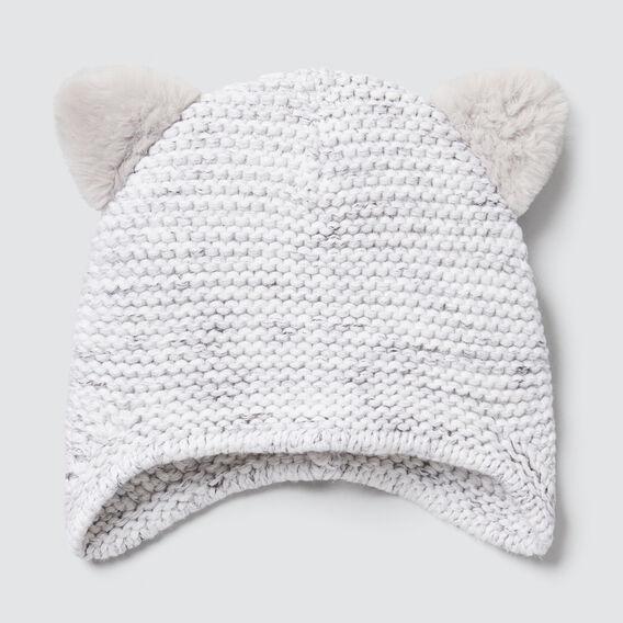 Fluffy Ears Beanie  VINTAGE SPACE DYE  hi-res