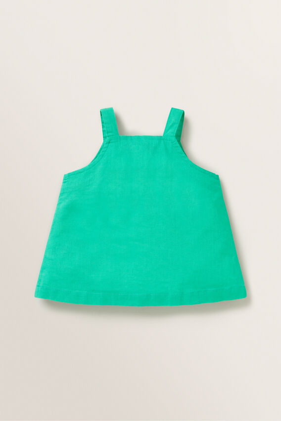 Linen Button Top  APPLE GREEN  hi-res