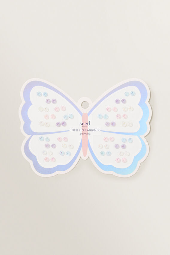 Butterfly Gem Stick On Earring  MULTI  hi-res