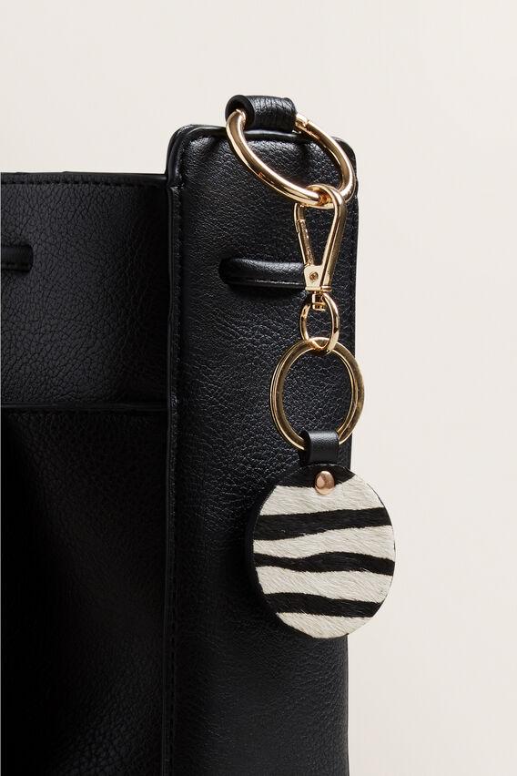 Leather Keyring  ZEBRA  hi-res