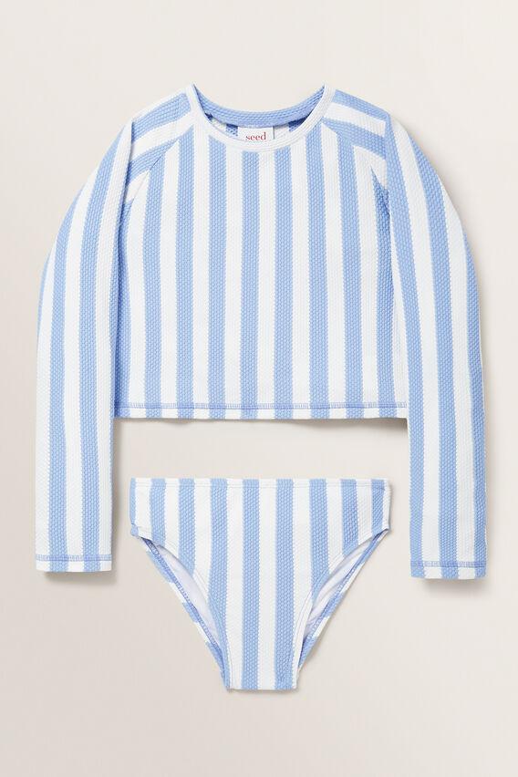 Stripe Rash-Kini  BLUEBELL  hi-res