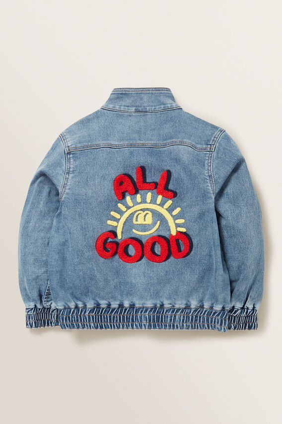 Denim Bomber Jacket  MID BLUE WASH  hi-res
