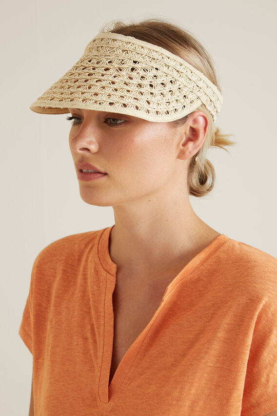 Cutwork Visor  NATURAL  hi-res