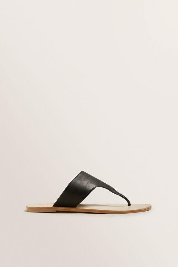 Sally Flat Sandal  BLACK  hi-res