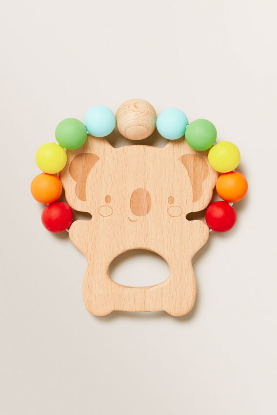 Wood & Silicone Koala Teether  MULTI  hi-res