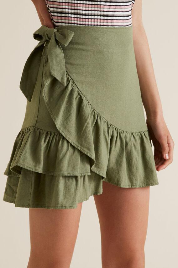 Ruffle Skirt  PALE KHAKI  hi-res