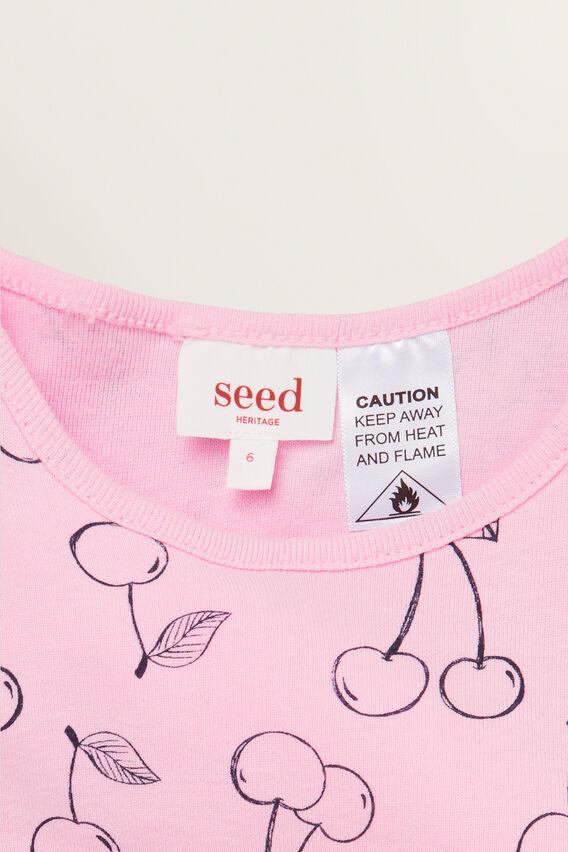 Cherry Sleeveless Pyjama  CANDY PINK  hi-res
