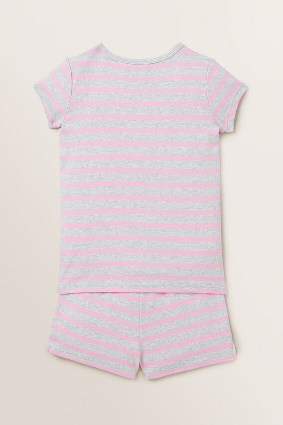 Striped Short Sleeve Pyjamas  CANDY PINK CLOUD  hi-res