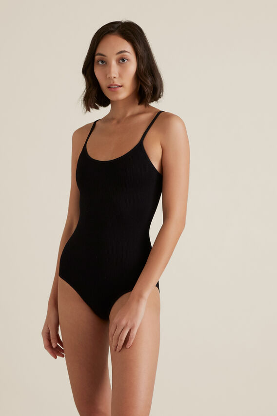 Seamfree Rib Bodysuit  BLACK  hi-res
